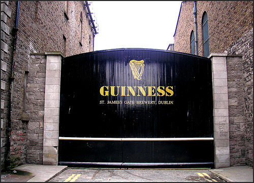 image of St James brewery gates dublin